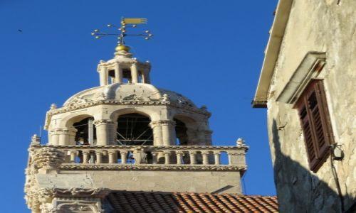 Zdjęcie CHORWACJA / poludniowa Dalmacja, Korčula / Korčula - wieża katedry św. Marka / góruje nad Korčulą...