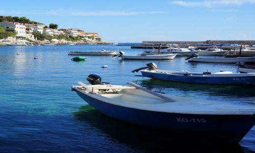 Zdjęcie CHORWACJA / Dalmacja południowa-Korčula / Zavalatica  / przystań na Korčuli...