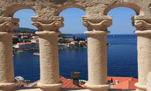Zdjecie CHORWACJA / Południowa Dalmacja / Korčula / Widok z wieży katedry św. Marka