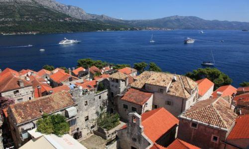 Zdjęcie CHORWACJA / Południowa Dalmacja / Korčula / Widok z wieży katedry św. Marka