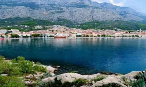 Zdjecie CHORWACJA / Dalmacja / Makarska / od strony morza...