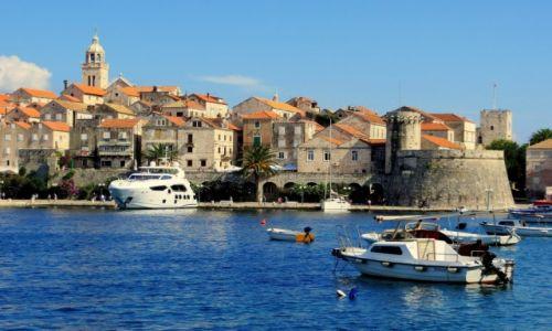 Zdjęcie CHORWACJA / Dalmacja południowa-wyspa Korčula / Korčula / w porcie...