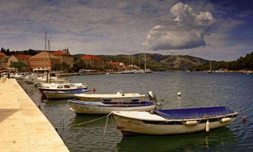 Zdjęcie CHORWACJA / Środkowej Dalmacji -Hvar /  Stari Grad  / Najstarsze miasto na wyspie,