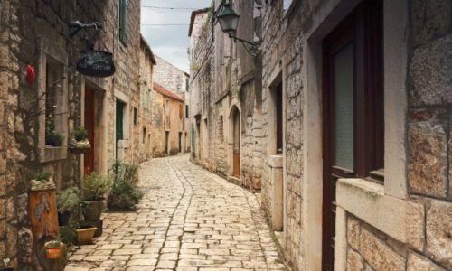 Zdjęcie CHORWACJA / Środkowej Dalmacji -Hvar /  Stari Grad  / Kręte uliczki