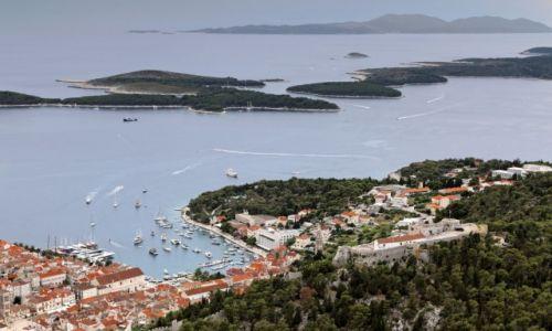 Zdjęcie CHORWACJA / Środkowej Dalmacji -Hvar / Hvar / Widok na wyspy diabelskie