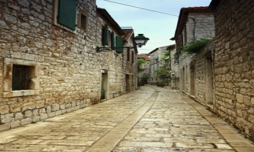 Zdjęcie CHORWACJA / Środkowej Dalmacji -Hvar /  Stari Grad  / Uliczkami-starego miasta