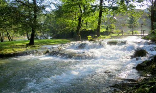 Zdjecie CHORWACJA / środkowa Chorwacja / Slunj-Rastoke; skansen młynów wodnych / tu woda się nie leni...