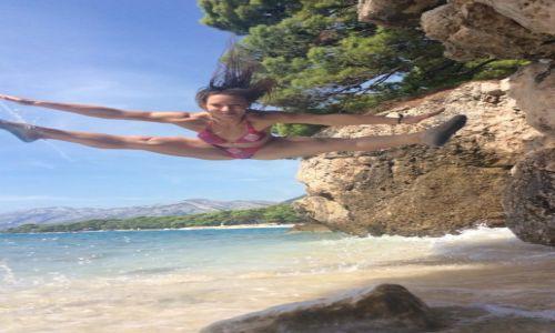 Zdjecie CHORWACJA / - / Brela / Plażowa gimnastyka