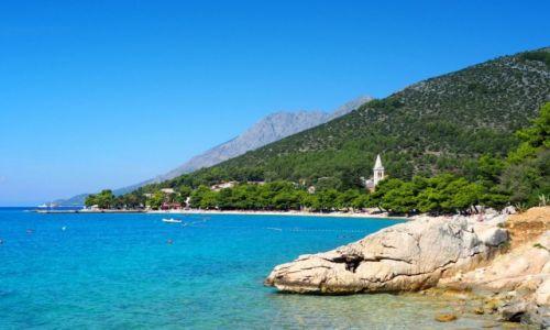 Zdjecie CHORWACJA / Riviera Makarska / Zaostrog / schowany w zieleni...