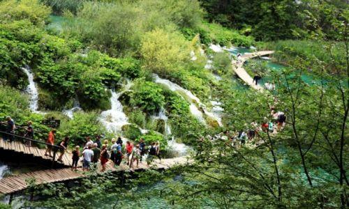 Zdjęcie CHORWACJA / Żupanja Licko-Senjska / Park Narodowy Jezior Pitwickich / Do wodospadów