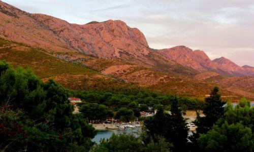 Zdjecie CHORWACJA / Riviera Makarska / Zivogosce / widok poniekąd znajomy...
