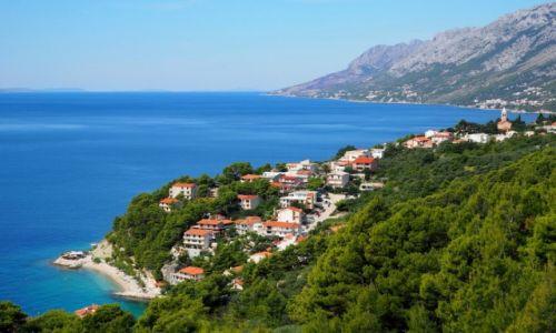 Zdjecie CHORWACJA / Riviera Makarska / Brela / kobaltowy, lapis-lazuli, czy może paryski błękit?