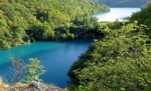 Zdjecie CHORWACJA / �rodkowa Chorwacja / Park Narodowy Jezior Plitwickich / z g�rnego taras