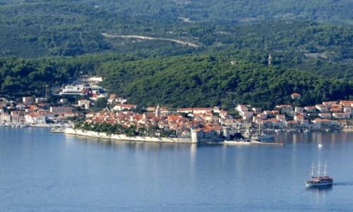 Zdjecie CHORWACJA / południowa Dalmacja / Korčula / z oddali...