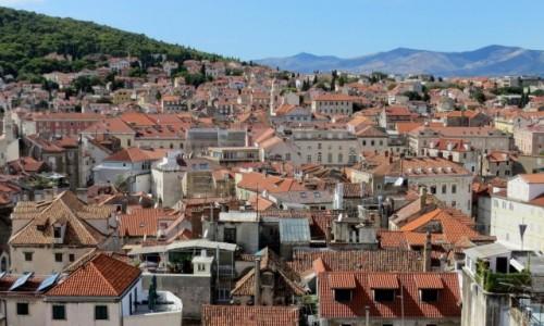Zdjęcie CHORWACJA / Dalmacja / Split / dachy Splitu...