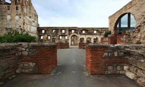 CHORWACJA / Split / Pa�ac Dioklecjana / Mury