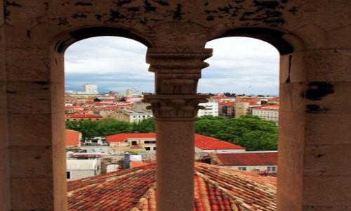 Zdjęcie CHORWACJA / Pałac Dioklecjana / Wieża Katedry św. Duje / Split