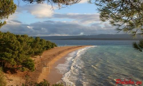 Zdjęcie CHORWACJA / Dalmacja / Wyspa Brač / Bol - Plaża Zlatni Rat