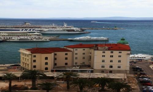 Zdjęcie CHORWACJA / Split / Wieża Katedry św. Duje / Kapitanat Portu
