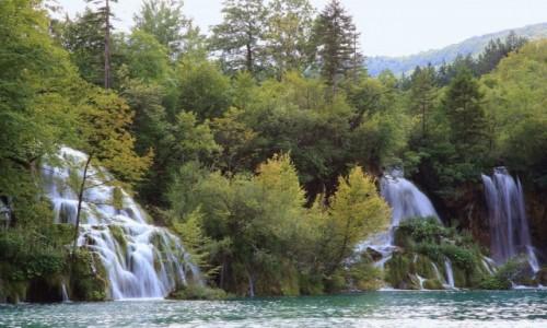Zdjęcie CHORWACJA /  Żupanja Licko-Senijska  / Park Narodowy Jezior Pitwickich  / Wodospadki