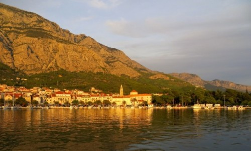 Zdjęcie CHORWACJA / Riviera Makarska / Makarska / o zachodzie...