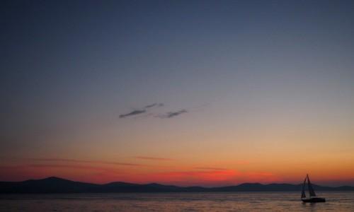 Zdjecie CHORWACJA / północna Dalmacja / Zadar / Zachód słońca w Zadarze