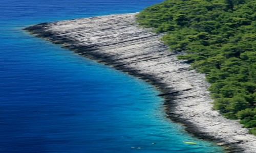 CHORWACJA / Dalmacja / Kor�ula / Chorwacka pla�a