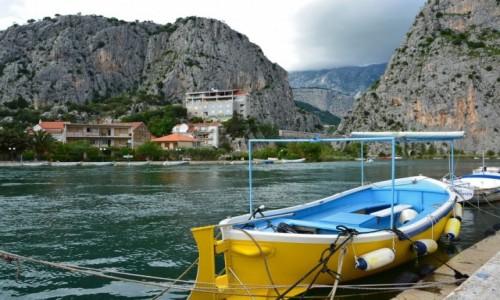Zdjecie CHORWACJA / �rodkowa Dalmacja / Omis uj�cie rzeki Cetiny / Omis