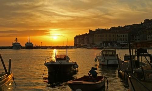 Zdjecie CHORWACJA / Istria / Rovinj / Zachód  słońca