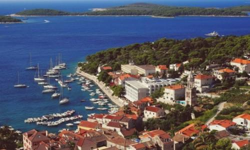 Zdjecie CHORWACJA / Hvar / Hvar - port / z murów fortecy