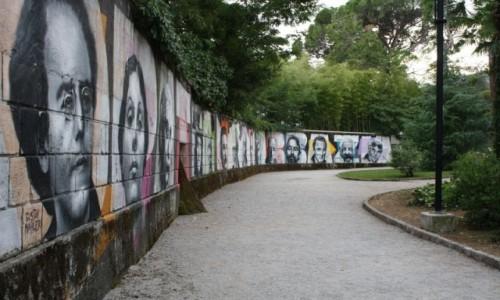 Zdjecie CHORWACJA / - / Opatija / pomysł na mur