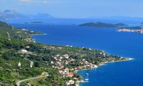 Zdjęcie CHORWACJA / Pelješac / w drodze z Orebić do Lovište / widać moją Korčulę...