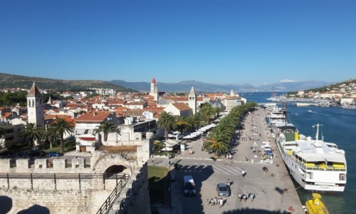 CHORWACJA / Dalmacja / Trogir / Widok z Twierdzy Kamerlengo