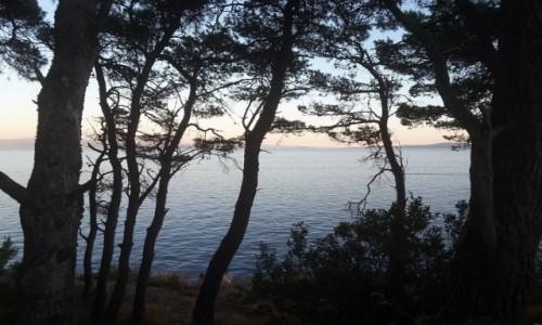 CHORWACJA / Dalmacja / Ciovo / Widok z Ciovo na wyspy położone na Morzu Adriatyckim