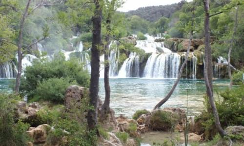 Zdjecie CHORWACJA / Chorwacja / Park Narodowy Krka / Wodospady na rzece Krka