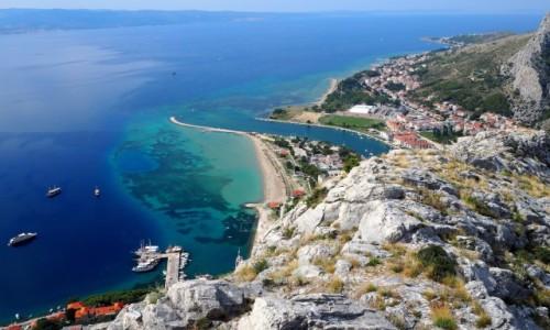 Zdjecie CHORWACJA / Riviera Omiš / Omiš / z murów twierdzy Starigrad...