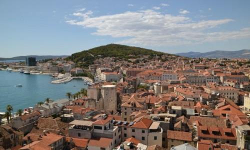 Zdjęcie CHORWACJA / Dalmacja / Split / Widok na wzgórze Marjan