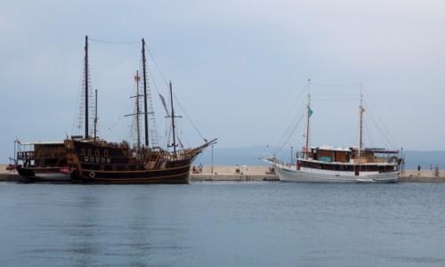 Zdjecie CHORWACJA / Riviera Makarska / Makarska - port / kiedyś popłynę...