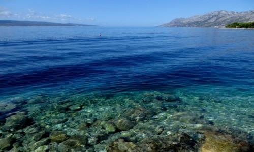 Zdjecie CHORWACJA / Riviera Makarska / Brela-Punta Rata / błękit...