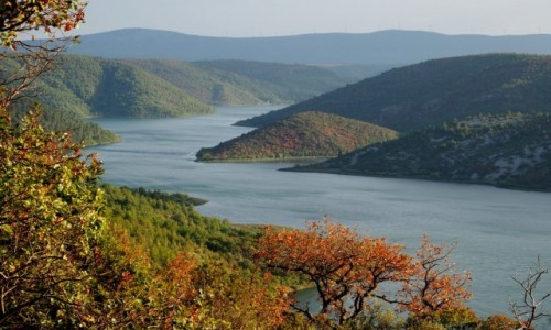 Zdjecie CHORWACJA / Dalmacja / Park Narodowy Krka / Visovačko jezero...