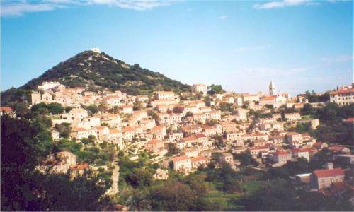 CHORWACJA / Dalmacja / Lastovo / Lastovo-panorama