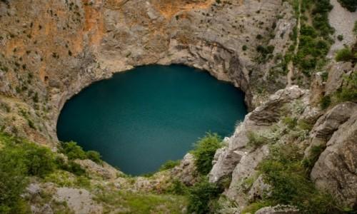 Zdjecie CHORWACJA / Dalmacja / Imotski / Crveno Jezero – Imotski