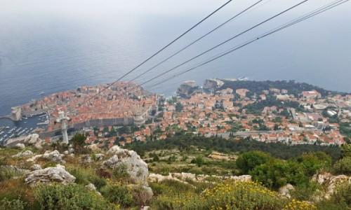 CHORWACJA / Dalmacja / Dubrovnik / Widok ze wzgórza SRD na Dubrovnik