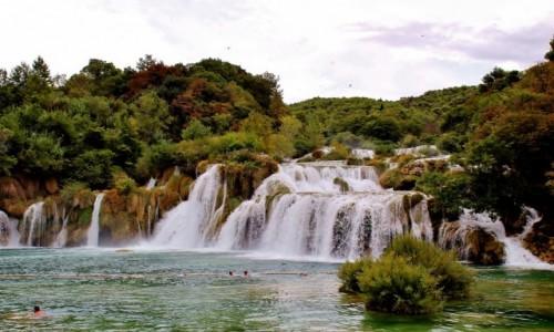 Zdjecie CHORWACJA / Dalmacja / Park Narodowy Krka / Wodospad Skradinski Buk