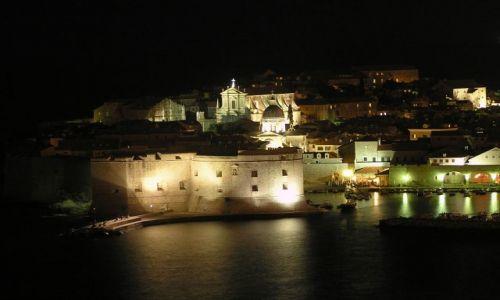 Zdjęcie CHORWACJA / dalmacja / Dubrownik / Dubrownik nocą