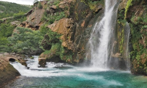 Zdjecie CHORWACJA / środkowa Chorwacja / wodospad Krcic, okolice Knina / tu finiszuje...
