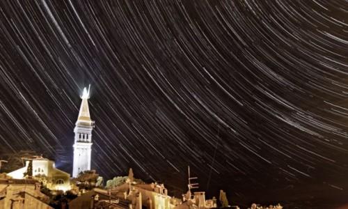 Zdjecie CHORWACJA / Istria / Rovinj / Star trails Rovinj