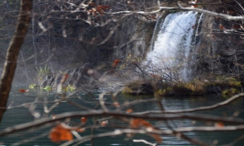 Zdjecie CHORWACJA / Środkowa Chorwacja / Park Narodowy Plitwickie Jeziora / Wodospad