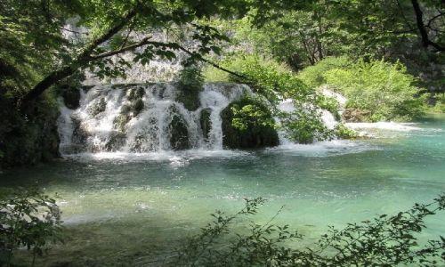 Zdjęcie CHORWACJA / brak / Jeziora Plitwickie / wodospad3