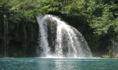 Zdjęcie CHORWACJA / brak / Jeziora Plitwickie / wodospad4
